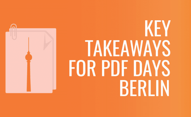 Key Takeaways for PDF Days Berlin